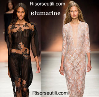 Fashion dresses Blumarine spring summer 2015 womenswear