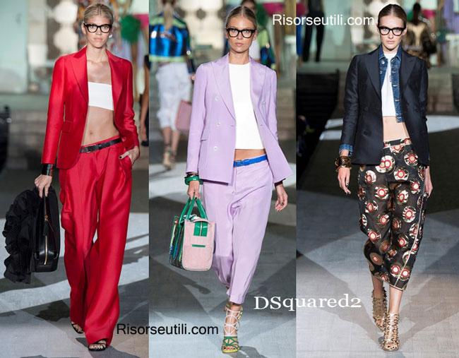 Fashion dresses DSquared2 spring summer 2015