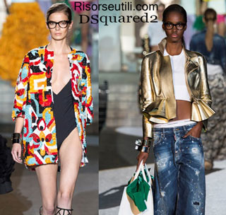 Fashion dresses DSquared2 spring summer 2015 womenswear