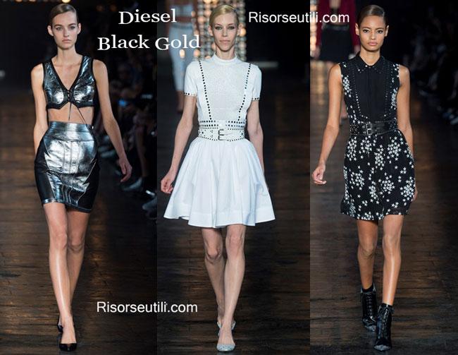 Fashion dresses Diesel Black Gold spring summer 2015