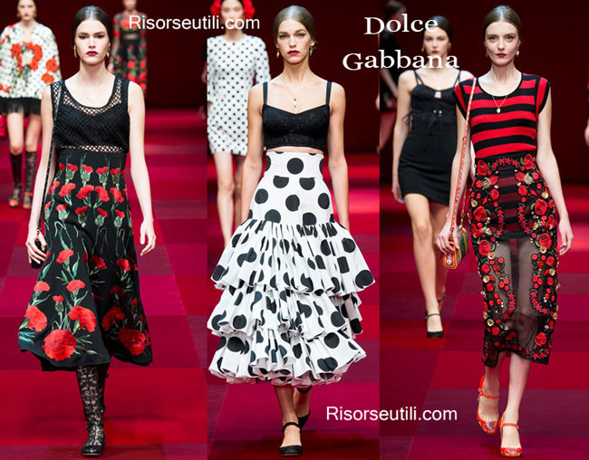 Fashion dresses Dolce Gabbana spring summer 2015