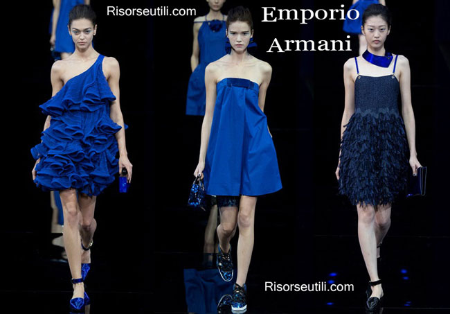 Fashion dresses Emporio Armani spring summer 2015