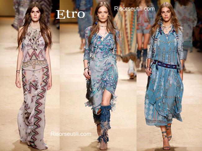Fashion dresses Etro spring summer 2015