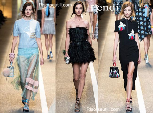 Fashion dresses Fendi spring summer 2015