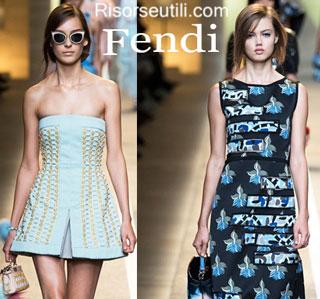 Fashion dresses Fendi spring summer 2015 womenswear
