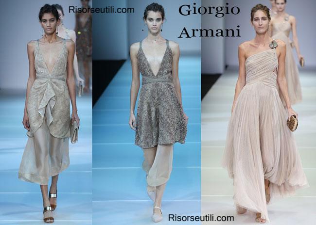 Fashion dresses Giorgio Armani spring summer 2015