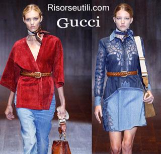 Fashion dresses Gucci spring summer 2015 womenswear