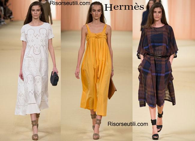 Fashion dresses Hermes spring summer 2015