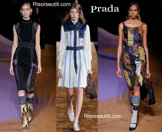 Fashion dresses Prada spring summer 2015