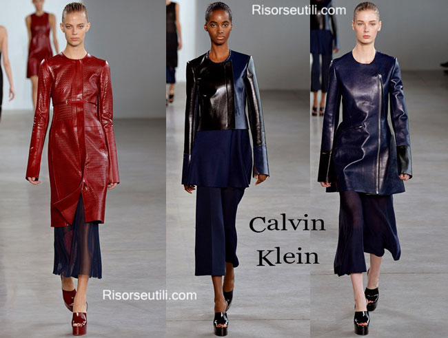 Leather Clothing Calvin Klein spring summer 2015