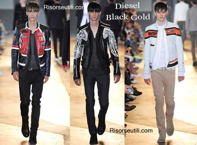Leather clothing Diesel Black Gold spring summer 2015