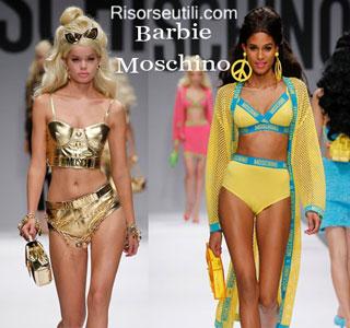 Dresses Barbie Moschino spring summer 2015 womenswear