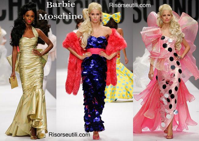 Fashion dresses Barbie Moschino spring summer 2015