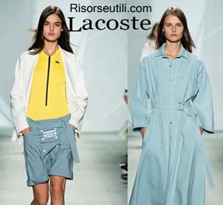 Fashion dresses Lacoste spring summer 2015 womenswear