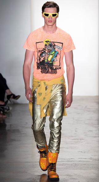 Jeremy Scott Spring Summer 2015 Menswear Look 1