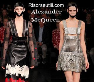 Dresses Alexander McQueen spring summer 2015 womenswear