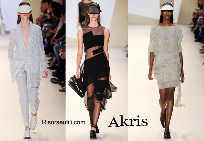 Fashion dresses Akris spring summer 2015