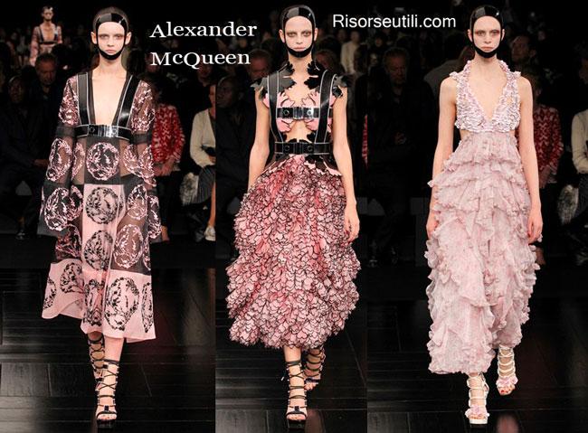 Fashion dresses Alexander McQueen spring summer 2015