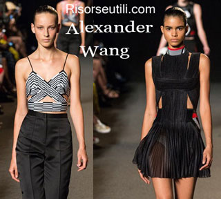 Fashion dresses Alexander Wang spring summer 2015 womenswear