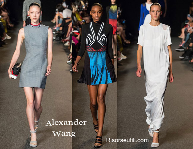 Fashion dresses Alexander Wang spring summer 2015