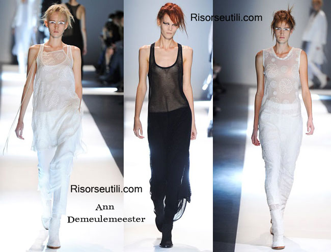 Fashion dresses Ann Demeulemeester spring summer 2015