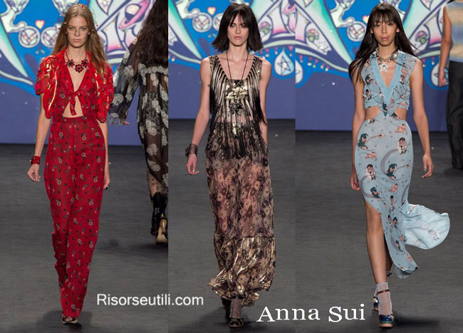 Fashion dresses Anna Sui spring summer 2015