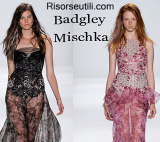 Fashion dresses Badgley Mischka spring summer 2015 womenswear