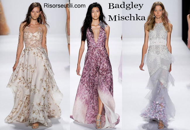 Fashion dresses Badgley Mischka spring summer 2015