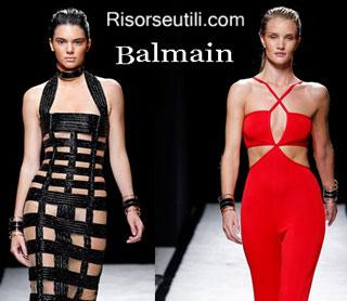 Fashion dresses Balmain spring summer 2015 womenswear