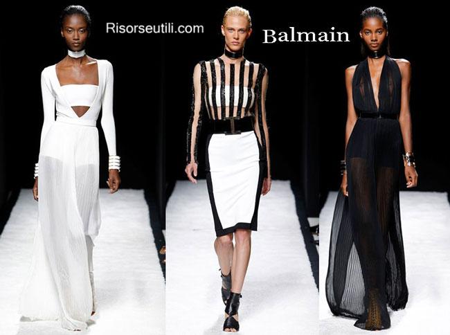 Fashion dresses Balmain spring summer 2015