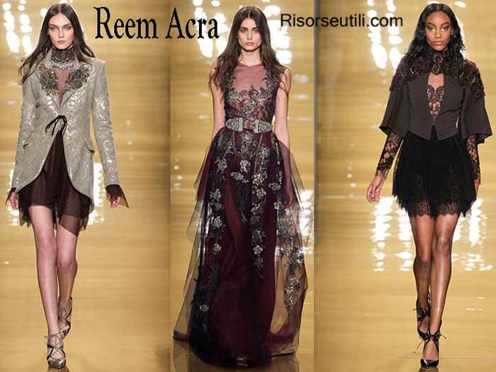 Reem Acra fall winter womenswear