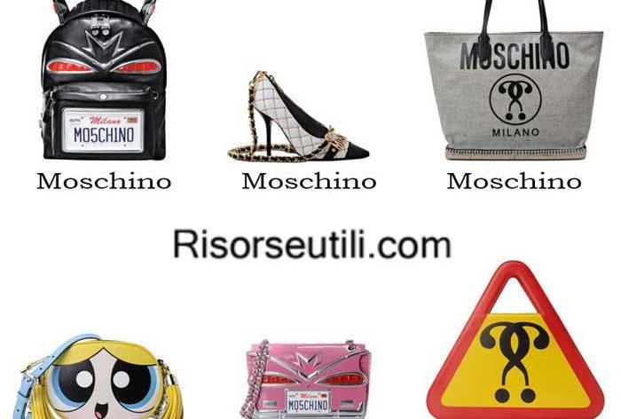 Bags Moschino spring summer 2016 womenswear handbags