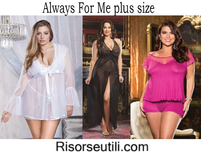 Lingerie Always For Me spring summer 2016 plus size