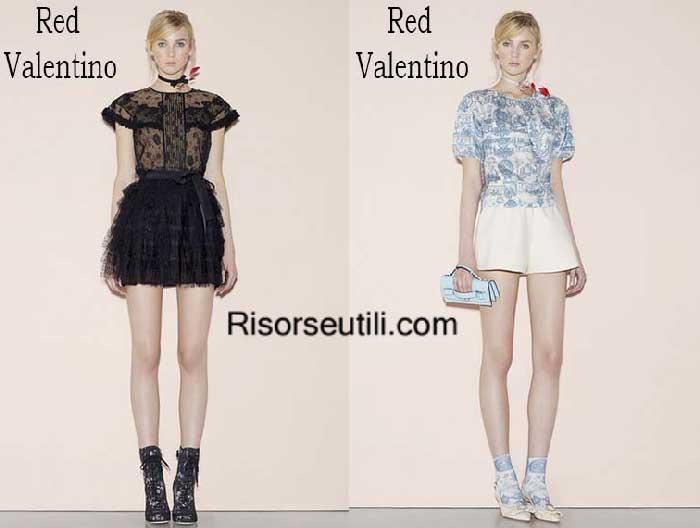 Fashion brand Red Valentino spring summer 2016 women