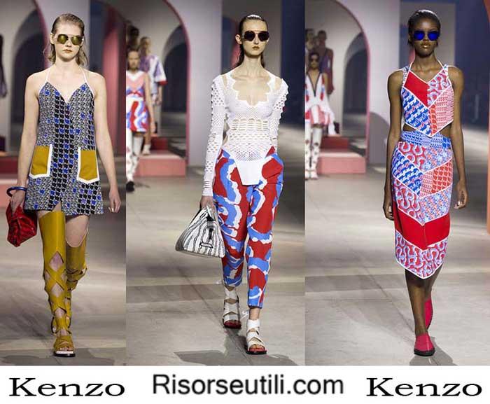 Fashion clothing Kenzo spring summer 2016 for women