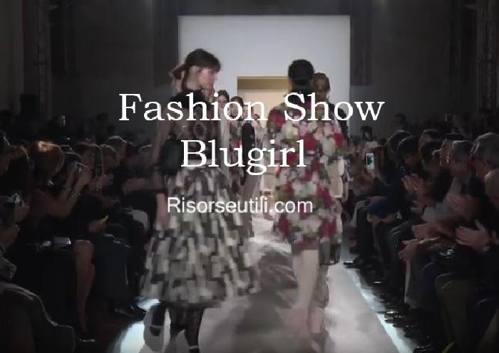 Fashion show Blugirl fall winter 2016 2017 womenswear