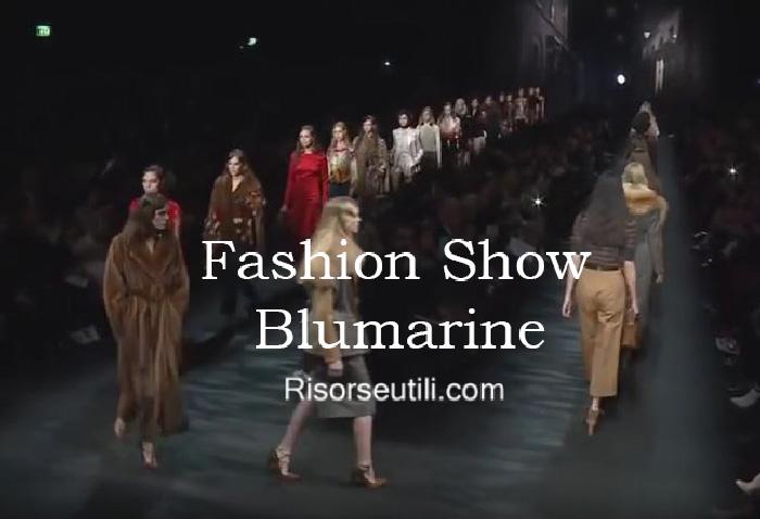 Fashion show Blumarine fall winter 2016 2017 womenswear