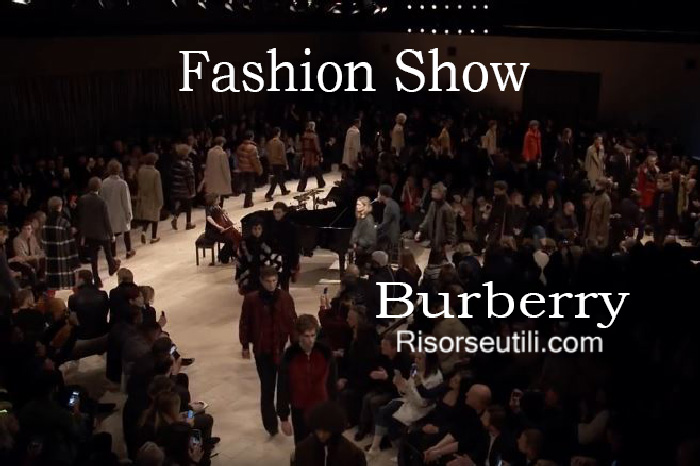 Fashion show Burberry fall winter 2016 2017 menswear