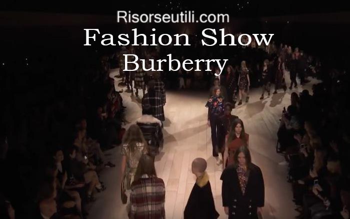 Fashion show Burberry fall winter 2016 2017 womenswear