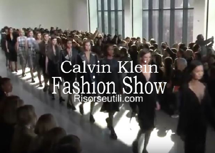 Fashion show Calvin Klein fall winter 2016 2017 womenswear