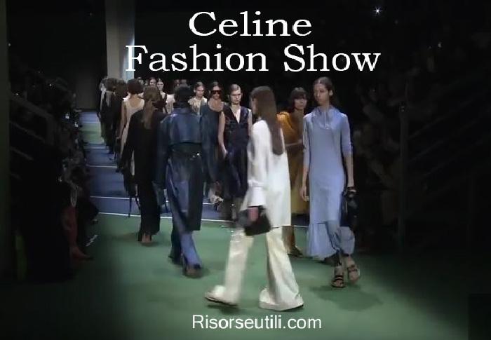 Fashion show Celine fall winter 2016 2017 womenswear