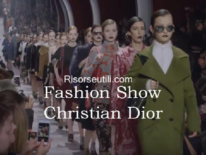 Fashion show Christian Dior fall winter 2016 2017 womenswear