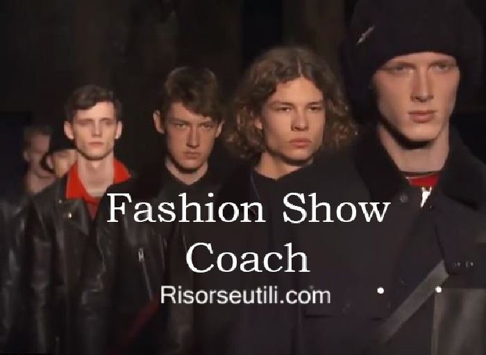 Fashion show Coach fall winter 2016 2017 menswear