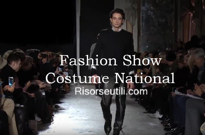 Fashion show Costume National fall winter 2016 2017 menswear