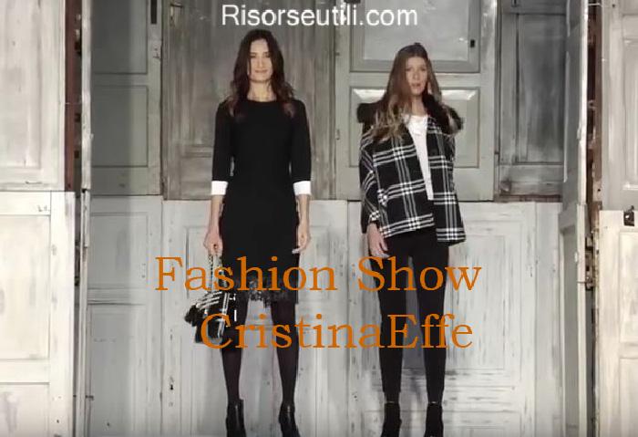 Fashion show CristinaEffe fall winter 2016 2017 womenswear
