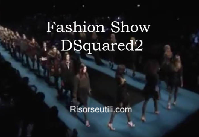 Fashion show DSquared2 fall winter 2016 2017 womenswear
