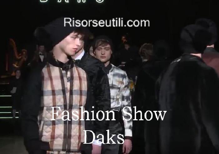 Fashion show Daks fall winter 2016 2017 menswear
