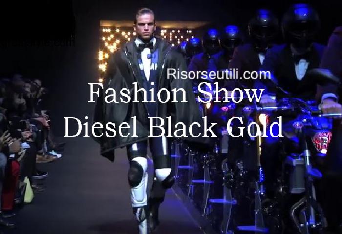 Fashion show Diesel Black Gold fall winter 2016 2017 menswear