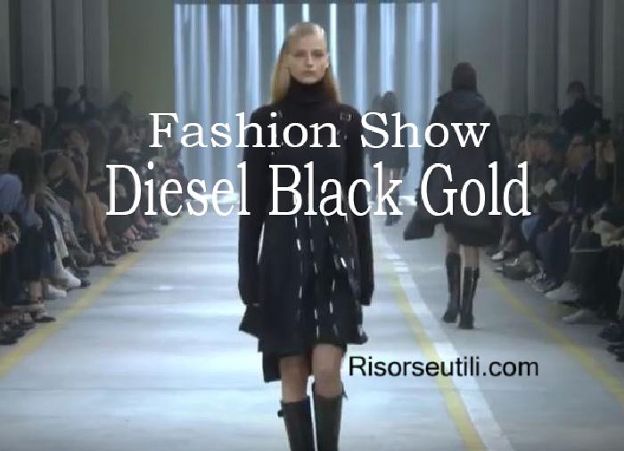 Fashion show Diesel Black Gold fall winter 2016 2017 womenswear