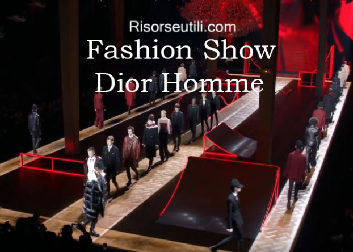 Fashion show Dior Homme fall winter 2016 2017 menswear
